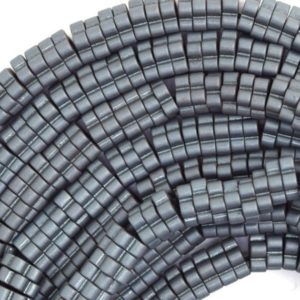 "Shop Hematite Bead Shapes! 6mm matte gray hematite daisy beads 15.5"" strand 36465 