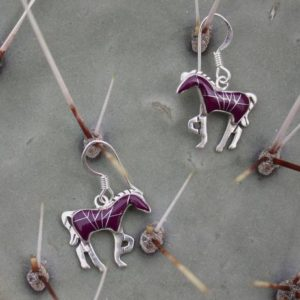 Shop Sugilite Earrings! Horse Earrings, Native Handcrafted Earrings, Horse Lover | Natural genuine Sugilite earrings. Buy crystal jewelry, handmade handcrafted artisan jewelry for women.  Unique handmade gift ideas. #jewelry #beadedearrings #beadedjewelry #gift #shopping #handmadejewelry #fashion #style #product #earrings #affiliate #ad