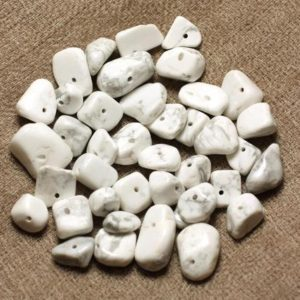 Shop Howlite Chip & Nugget Beads! 50pc – large rock Chips stone beads – Howlite 5-15mm 4558550028181 | Natural genuine chip Howlite beads for beading and jewelry making.  #jewelry #beads #beadedjewelry #diyjewelry #jewelrymaking #beadstore #beading #affiliate #ad