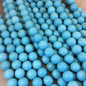"""Shop Howlite Round Beads! 10mm Smooth Round/Ball Shape Howlite Beads – 16"""" Strand (Approximately 42 Beads) – Natural Semi-Precious Gemstone – Sold by the Strand 