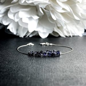 Shop Iolite Jewelry! Raw Iolite Bracelet, Motivation Bracelet, Aura Cleansing Balance Bracelet, Dainty Anklet | Natural genuine Iolite jewelry. Buy crystal jewelry, handmade handcrafted artisan jewelry for women.  Unique handmade gift ideas. #jewelry #beadedjewelry #beadedjewelry #gift #shopping #handmadejewelry #fashion #style #product #jewelry #affiliate #ad