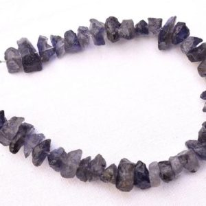Shop Iolite Chip & Nugget Beads! Rough Iolite Beads, Iolite Gemstone Raw Beads, Raw Gemstone, Rough Gemstone Beads 8mm To 12mm, 7 Inch Strand GN4638 | Natural genuine chip Iolite beads for beading and jewelry making.  #jewelry #beads #beadedjewelry #diyjewelry #jewelrymaking #beadstore #beading #affiliate #ad