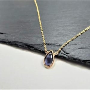 Shop Iolite Pendants! Dainty Iolite Necklace, Iolite Pendant / Handmade Jewelry / Necklaces For Women, Simple Gold Necklace, Silver Necklace, Layered Necklace | Natural genuine Iolite pendants. Buy crystal jewelry, handmade handcrafted artisan jewelry for women.  Unique handmade gift ideas. #jewelry #beadedpendants #beadedjewelry #gift #shopping #handmadejewelry #fashion #style #product #pendants #affiliate #ad