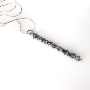 Shop Iolite Pendants! Raw Iolite Pendant Gem Bar Necklace Aura Cleansing, Anxiety Necklace | Natural genuine Iolite pendants. Buy crystal jewelry, handmade handcrafted artisan jewelry for women.  Unique handmade gift ideas. #jewelry #beadedpendants #beadedjewelry #gift #shopping #handmadejewelry #fashion #style #product #pendants #affiliate #ad