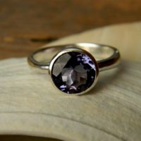 Iolite Silver Gemstone Ring, Water Sapphire In Recycled 925 Tarnish Resistant Sterling Silver | Natural genuine Gemstone jewelry. Buy crystal jewelry, handmade handcrafted artisan jewelry for women.  Unique handmade gift ideas. #jewelry #beadedjewelry #beadedjewelry #gift #shopping #handmadejewelry #fashion #style #product #jewelry #affiliate #ad