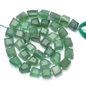 Shop Jade Chip & Nugget Beads! AAA+ Green Jade Quartz Gemstone 6mm-8mm Faceted Nuggets Beads | Natural Green Quartz Tumbled Cut Semi Precious Gemstone Beads | 7inch Strand | Natural genuine chip Jade beads for beading and jewelry making.  #jewelry #beads #beadedjewelry #diyjewelry #jewelrymaking #beadstore #beading #affiliate #ad