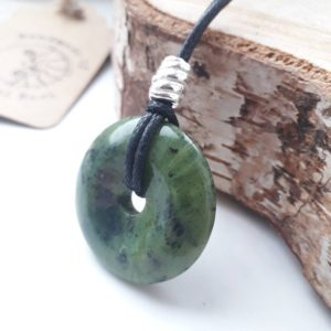 Shop Jade Pendants! Jade Mans Pendant, Mans Jade Gift For Luck, Jade Donut Unisex Necklace For Luck Gift Personalized , | Natural genuine Jade pendants. Buy crystal jewelry, handmade handcrafted artisan jewelry for women.  Unique handmade gift ideas. #jewelry #beadedpendants #beadedjewelry #gift #shopping #handmadejewelry #fashion #style #product #pendants #affiliate #ad
