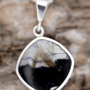 Shop Jet Pendants! Whitby Jet Pendant – Blue John Pendant – Double Sided- sterling silver – Gemstone Pendant – Cushion Pendant   Natural genuine Jet pendants. Buy crystal jewelry, handmade handcrafted artisan jewelry for women.  Unique handmade gift ideas. #jewelry #beadedpendants #beadedjewelry #gift #shopping #handmadejewelry #fashion #style #product #pendants #affiliate #ad