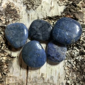 Shop Dumortierite Stones & Crystals! KRIO® – Dumortierite as disc stone, hand flatteror OR as pendant with 2 silver loops to choose from | Natural genuine stones & crystals in various shapes & sizes. Buy raw cut, tumbled, or polished gemstones for making jewelry or crystal healing energy vibration raising reiki stones. #crystals #gemstones #crystalhealing #crystalsandgemstones #energyhealing #affiliate #ad