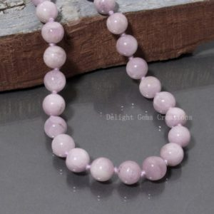 Shop Kunzite Necklaces! Kunzite 108 Beads  Mala, Prayer Beads, Mens Mala Necklace, Natural Stones, Meditation, Pink Kunzite Round Necklace,AAA Knotted Mala For Gift | Natural genuine Kunzite necklaces. Buy handcrafted artisan men's jewelry, gifts for men.  Unique handmade mens fashion accessories. #jewelry #beadednecklaces #beadedjewelry #shopping #gift #handmadejewelry #necklaces #affiliate #ad