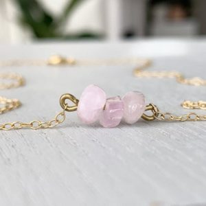 Shop Kunzite Necklaces! KUNZITE NECKLACE – Kunzite Crystal Necklace – Heart Chakra Necklace – Purple Kunzite Jewelry – Crystal Necklace Her – Bridesmaid Necklace | Natural genuine Kunzite necklaces. Buy crystal jewelry, handmade handcrafted artisan jewelry for women.  Unique handmade gift ideas. #jewelry #beadednecklaces #beadedjewelry #gift #shopping #handmadejewelry #fashion #style #product #necklaces #affiliate #ad