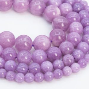 Kunzite Purple Color Quartz Loose Beads Round Shape 6mm 8mm 10mm 12mm | Natural genuine round Kunzite beads for beading and jewelry making.  #jewelry #beads #beadedjewelry #diyjewelry #jewelrymaking #beadstore #beading #affiliate #ad