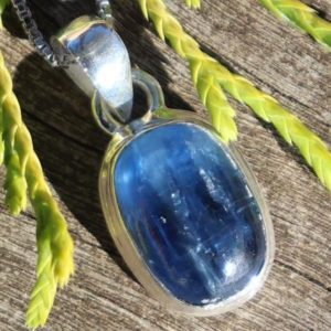 Shop Kyanite Necklaces! Small Silvery Blue Kyanite, 925 Silver Healing Stone Necklace for Your Chakras!   Natural genuine Kyanite necklaces. Buy crystal jewelry, handmade handcrafted artisan jewelry for women.  Unique handmade gift ideas. #jewelry #beadednecklaces #beadedjewelry #gift #shopping #handmadejewelry #fashion #style #product #necklaces #affiliate #ad