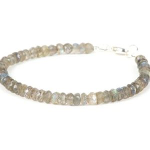 Shop Labradorite Jewelry! Labradorite Bracelet, Delicate Gemstone Bracelet, Faceted Labradorite Gemstones, Gemstone Bracelet, Handmade Jewelry, Gemstone Jewelry | Natural genuine Labradorite jewelry. Buy crystal jewelry, handmade handcrafted artisan jewelry for women.  Unique handmade gift ideas. #jewelry #beadedjewelry #beadedjewelry #gift #shopping #handmadejewelry #fashion #style #product #jewelry #affiliate #ad