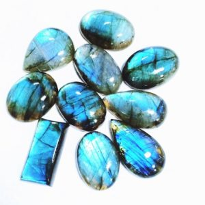 Shop Labradorite Cabochons! Lot OF 10 Pc  Labradorite Blue fire AAA Quality mix shape approx 20 x 25 MM size  cabochon gemstone jewlery stone | Natural genuine stones & crystals in various shapes & sizes. Buy raw cut, tumbled, or polished gemstones for making jewelry or crystal healing energy vibration raising reiki stones. #crystals #gemstones #crystalhealing #crystalsandgemstones #energyhealing #affiliate #ad
