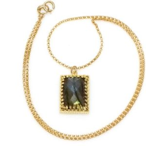 Shop Labradorite Pendants! Labradorite necklace,long necklace,rectangle necklace,gold filled necklace,solid gold necklace,gold pendant,vintage | Natural genuine Labradorite pendants. Buy crystal jewelry, handmade handcrafted artisan jewelry for women.  Unique handmade gift ideas. #jewelry #beadedpendants #beadedjewelry #gift #shopping #handmadejewelry #fashion #style #product #pendants #affiliate #ad