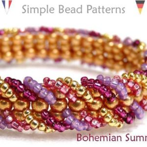 Shop Jewelry Making Tutorials! Ladder Stitch Bracelet – Beading Tutorial Pattern – Jewelry Making – Seed Beads – Simple Bead Patterns – Bohemian Summer #62 | Shop jewelry making and beading supplies, tools & findings for DIY jewelry making and crafts. #jewelrymaking #diyjewelry #jewelrycrafts #jewelrysupplies #beading #affiliate #ad