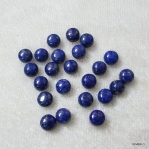 Shop Lapis Lazuli Cabochons! 10 Pieces 6mm Lapis Lazuli Cabochon Round Gemstone, Aaa Quality, Lapis Lazuli Round Cabochon Loose Gemstone, Lapis Cabochon Round Gemstone | Natural genuine stones & crystals in various shapes & sizes. Buy raw cut, tumbled, or polished gemstones for making jewelry or crystal healing energy vibration raising reiki stones. #crystals #gemstones #crystalhealing #crystalsandgemstones #energyhealing #affiliate #ad