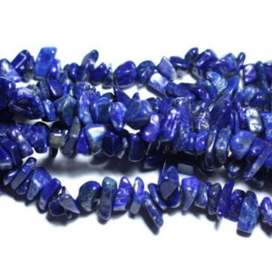 Shop Lapis Lazuli Chip & Nugget Beads! Wire 82cm 250pc approx. – Stone Beads – Lapis Lazuli Rockeries Chips 5-11mm | Natural genuine chip Lapis Lazuli beads for beading and jewelry making.  #jewelry #beads #beadedjewelry #diyjewelry #jewelrymaking #beadstore #beading #affiliate #ad