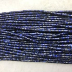 Shop Lapis Lazuli Bead Shapes! Natural Lapis Lazuli 3mm – 4mm Heishi Genuine Loose Blue Gemstone Beads 15 Inch Jewelry Supply Bracelet Necklace Material Support Wholesale | Natural genuine other-shape Lapis Lazuli beads for beading and jewelry making.  #jewelry #beads #beadedjewelry #diyjewelry #jewelrymaking #beadstore #beading #affiliate #ad