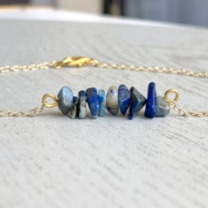 Shop Raw & Rough Lapis Lazuli Stones! Lapis Lazuli Anklet, Raw Lapis Lazuli Jewelry, Gold Lapis Lazuli Anklet, Boho Crystal Anklet, Healing Crystal Gift, Gift for Wife or Mom | Natural genuine stones & crystals in various shapes & sizes. Buy raw cut, tumbled, or polished gemstones for making jewelry or crystal healing energy vibration raising reiki stones. #crystals #gemstones #crystalhealing #crystalsandgemstones #energyhealing #affiliate #ad