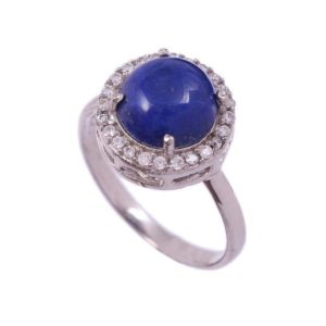 Shop Lapis Lazuli Rings! Lapis Lazuli Ring, sterling Silver Ring, Stacking Ring, Vintage Halo Ring, Proposal Ring, Boho Rings For Women, Bridesmaid Gift For Her Mom | Natural genuine Lapis Lazuli rings, simple unique handcrafted gemstone rings. #rings #jewelry #shopping #gift #handmade #fashion #style #affiliate #ad