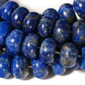 """Shop Lapis Lazuli Rondelle Beads! 15.5"""" 5x8mm Natural Lapis Lazuli Rondelle Beads, Genuine Lapis Roundel Beads 