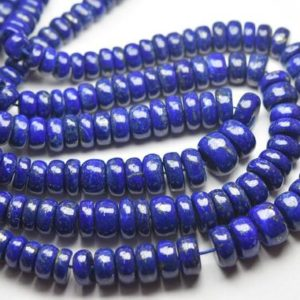 Shop Lapis Lazuli Rondelle Beads! 8 Inches Strand,Natural Lapis Lazuli Smooth Rondelles Beads,Size 9-10mm | Natural genuine rondelle Lapis Lazuli beads for beading and jewelry making.  #jewelry #beads #beadedjewelry #diyjewelry #jewelrymaking #beadstore #beading #affiliate #ad