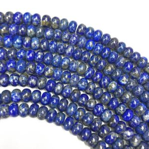 Shop Lapis Lazuli Rondelle Beads! 8x5mm Lapis Lazuli Rondelle Beads, Gemstone Beads, Wholesale Beads | Natural genuine rondelle Lapis Lazuli beads for beading and jewelry making.  #jewelry #beads #beadedjewelry #diyjewelry #jewelrymaking #beadstore #beading #affiliate #ad