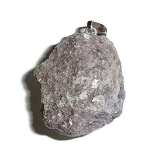 Shop Lepidolite Pendants! 1pc Raw Lepidolite Premium Quality Rough Natural Gemstone Pre-Looped Pendant | Natural genuine Lepidolite pendants. Buy crystal jewelry, handmade handcrafted artisan jewelry for women.  Unique handmade gift ideas. #jewelry #beadedpendants #beadedjewelry #gift #shopping #handmadejewelry #fashion #style #product #pendants #affiliate #ad