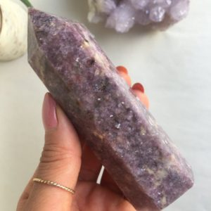 Shop Lepidolite Points & Wands! Lepidolite Point, Lepidolite | Natural genuine stones & crystals in various shapes & sizes. Buy raw cut, tumbled, or polished gemstones for making jewelry or crystal healing energy vibration raising reiki stones. #crystals #gemstones #crystalhealing #crystalsandgemstones #energyhealing #affiliate #ad