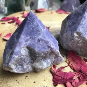 Shop Lepidolite Points & Wands! Lepidolite Raw Points – 298g-523g – Grief, Transition, Clairvoyance, Purity | Natural genuine stones & crystals in various shapes & sizes. Buy raw cut, tumbled, or polished gemstones for making jewelry or crystal healing energy vibration raising reiki stones. #crystals #gemstones #crystalhealing #crystalsandgemstones #energyhealing #affiliate #ad