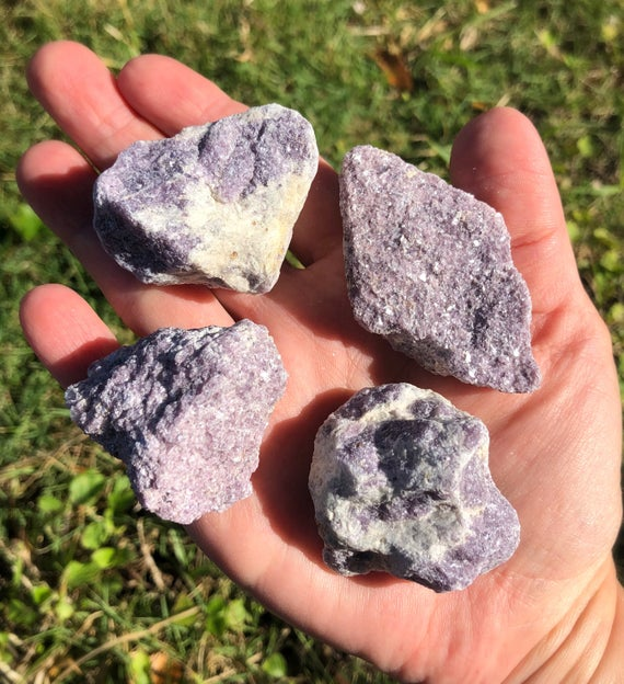 Lepidolite Rough, Raw, Stone, Crystal, Natural, Specimen, Mica, Lithium, Emotional Healing, Positivity, Stress Relief, Insomnia, Calming