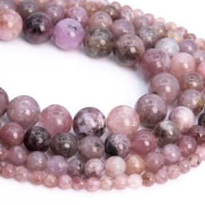 Genuine Natural Lepidolite Loose Beads Grade A Purple Pink Round Shape 6mm 8mm 10mm | Natural genuine beads Gemstone beads for beading and jewelry making.  #jewelry #beads #beadedjewelry #diyjewelry #jewelrymaking #beadstore #beading #affiliate #ad