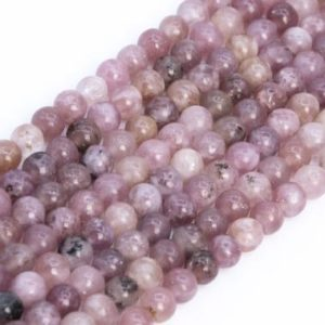 Shop Lepidolite Round Beads! Genuine Natural Lepidolite Purple Pink Loose Beads Grade A Round Shape 4mm | Natural genuine round Lepidolite beads for beading and jewelry making.  #jewelry #beads #beadedjewelry #diyjewelry #jewelrymaking #beadstore #beading #affiliate #ad