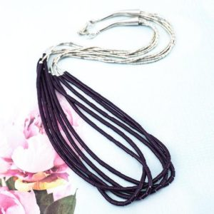 Shop Sugilite Necklaces! Liquid Silver Necklace, Native Beaded Necklace, Sugilite Necklace, Sterling Silver Necklace, Multistrand Necklace, Purple Bead Necklace | Natural genuine Sugilite necklaces. Buy crystal jewelry, handmade handcrafted artisan jewelry for women.  Unique handmade gift ideas. #jewelry #beadednecklaces #beadedjewelry #gift #shopping #handmadejewelry #fashion #style #product #necklaces #affiliate #ad