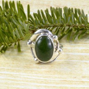 Shop Serpentine Rings! Looped Serpentine Ring // Serpentine Jewelry // Sterling Silver // Village Silversmith | Natural genuine Serpentine rings, simple unique handcrafted gemstone rings. #rings #jewelry #shopping #gift #handmade #fashion #style #affiliate #ad