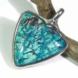 Shop Chrysocolla Necklaces! Magic patterns and colours! Chrysocolla, chrysocolla pendant, chrysocolla necklace pendant, chrysocolla silver pendant, chrysocolla jewelry | Natural genuine Chrysocolla necklaces. Buy crystal jewelry, handmade handcrafted artisan jewelry for women.  Unique handmade gift ideas. #jewelry #beadednecklaces #beadedjewelry #gift #shopping #handmadejewelry #fashion #style #product #necklaces #affiliate #ad