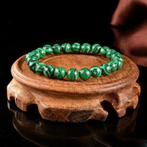 Green Malachite Stone Healing Bracelet-spiritual Balance Meditation Grounding Calm Bracelet-inner Peace Mental Health Gift | Natural genuine Gemstone bracelets. Buy crystal jewelry, handmade handcrafted artisan jewelry for women.  Unique handmade gift ideas. #jewelry #beadedbracelets #beadedjewelry #gift #shopping #handmadejewelry #fashion #style #product #bracelets #affiliate #ad