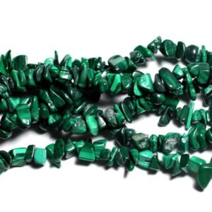 Shop Malachite Chip & Nugget Beads! Wire 89cm 260pc env – stone beads – Malachite rock Chips 3-8mm | Natural genuine chip Malachite beads for beading and jewelry making.  #jewelry #beads #beadedjewelry #diyjewelry #jewelrymaking #beadstore #beading #affiliate #ad