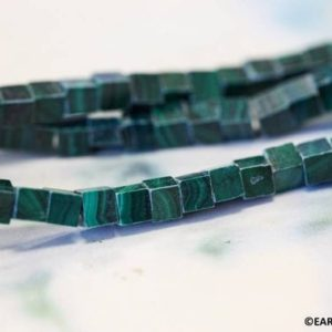 """S/ Malachite 4x4mm Cube beads 16"""" strand Natural green gemstone cubic spacer for jewelry making   Natural genuine other-shape Gemstone beads for beading and jewelry making.  #jewelry #beads #beadedjewelry #diyjewelry #jewelrymaking #beadstore #beading #affiliate #ad"""