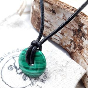 Small malachite pendant,  green stone necklace, heart chakra gift for yoga lover, pi stone gift for infinity | Natural genuine Malachite pendants. Buy crystal jewelry, handmade handcrafted artisan jewelry for women.  Unique handmade gift ideas. #jewelry #beadedpendants #beadedjewelry #gift #shopping #handmadejewelry #fashion #style #product #pendants #affiliate #ad