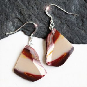 Shop Mookaite Jasper Earrings! Painted Desert – Beautiful Natural Freeform Mookaite Sterling Silver Earrings | Natural genuine Mookaite Jasper earrings. Buy crystal jewelry, handmade handcrafted artisan jewelry for women.  Unique handmade gift ideas. #jewelry #beadedearrings #beadedjewelry #gift #shopping #handmadejewelry #fashion #style #product #earrings #affiliate #ad