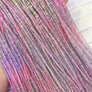 Shop Morganite Faceted Beads! Natural Faceted Multicolor Morganite Beads, Round Gemstone Beads, Wholasela Beads, 3mm, 4mm – M21078 | Natural genuine faceted Morganite beads for beading and jewelry making.  #jewelry #beads #beadedjewelry #diyjewelry #jewelrymaking #beadstore #beading #affiliate #ad