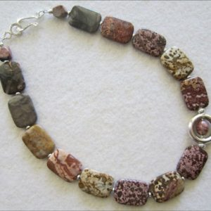 Shop Picture Jasper Necklaces! MultiColor Picture Jasper Necklace with Silver Pendant | Natural genuine Picture Jasper necklaces. Buy crystal jewelry, handmade handcrafted artisan jewelry for women.  Unique handmade gift ideas. #jewelry #beadednecklaces #beadedjewelry #gift #shopping #handmadejewelry #fashion #style #product #necklaces #affiliate #ad