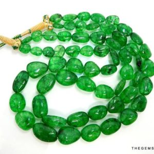 Shop Emerald Chip & Nugget Beads! Natural Emerald Beads, Zambian Emerald Tumble Shape Beads, Natural Zambian Emerald Nugget Shape Bead Necklace 9MM to 21MM, 507 Carat Approx | Natural genuine chip Emerald beads for beading and jewelry making.  #jewelry #beads #beadedjewelry #diyjewelry #jewelrymaking #beadstore #beading #affiliate #ad