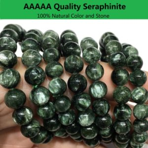 Natural Green Seraphinite Bracelet Round Bead Healing & Energy Gemstone for Bracelet Necklace DIY Jewelry Making AAAAA Quality 8mm 10mm 12mm | Natural genuine Seraphinite jewelry. Buy crystal jewelry, handmade handcrafted artisan jewelry for women.  Unique handmade gift ideas. #jewelry #beadedjewelry #beadedjewelry #gift #shopping #handmadejewelry #fashion #style #product #jewelry #affiliate #ad
