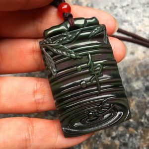Shop Rainbow Obsidian Pendants! Natural Ice Rainbow Obsidian Pendant Mascot Meditation Bamboo | Natural genuine Rainbow Obsidian pendants. Buy crystal jewelry, handmade handcrafted artisan jewelry for women.  Unique handmade gift ideas. #jewelry #beadedpendants #beadedjewelry #gift #shopping #handmadejewelry #fashion #style #product #pendants #affiliate #ad