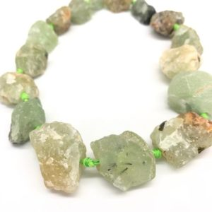 Shop Prehnite Chip & Nugget Beads! Natural Raw Prehnite Nugget, Faceted Rock Crystal Necklace, Rough Quartz Stone, Raw Crystals Bulk | Natural genuine chip Prehnite beads for beading and jewelry making.  #jewelry #beads #beadedjewelry #diyjewelry #jewelrymaking #beadstore #beading #affiliate #ad