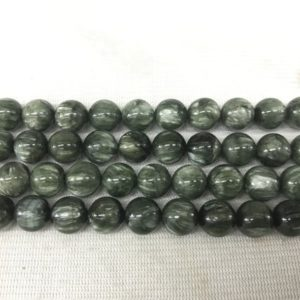 Shop Seraphinite Beads! Natural Seraphinite 10mm Round Genuine Green Loose Beads 15 inch = 38 Beads Jewelry Supply Bracelet Necklace Material Support Wholesale | Natural genuine round Seraphinite beads for beading and jewelry making.  #jewelry #beads #beadedjewelry #diyjewelry #jewelrymaking #beadstore #beading #affiliate #ad